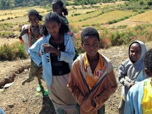 Happy kids in Ethiopia